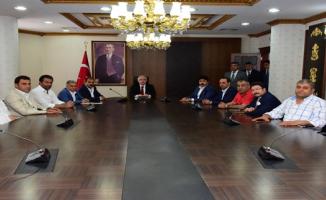 Şanlıurfaspor Yönetimi Vali Tuna'yı Ziyaret Etti