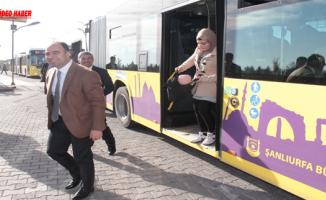 Büyükşehir Daire Başkanları Toplu Taşımayı Kullanacak