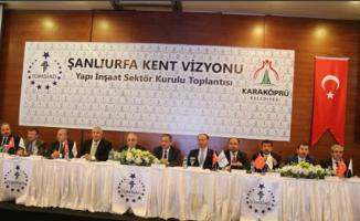 Bakanlar, Şanlıurfa Kent Vizyonu toplantısına katıldı