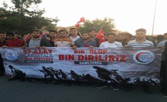 Urfa'da 'Bir Ölüp Bin Diriliriz' sloganıyla yürüyüş yapıldı