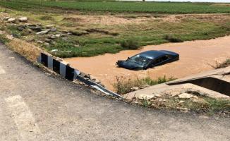 Urfa'da araç kanala uçtu! 5 yaralı