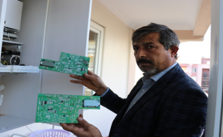 Karaköprü'de Yüksek Voltajdan Dolayı Kombiler Yanıyor