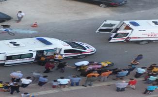 Urfa'da trafik kazası,3 yaralı