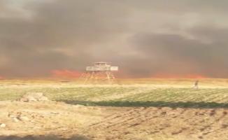 Suriye Sınırında Anız Yangını