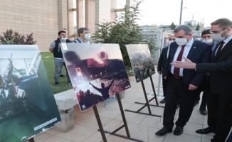 15 Temmuz konulu resim sergisi açıldı.