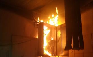 """Urfa""""da korkutan fabrika yangını"""