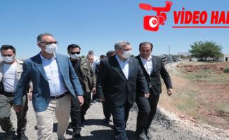 Başkan Beyazgül Eyyübiye'deki asfalt çalışmalarını inceledi