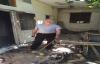 Suriyeli ailenin yaşadığı ev yandı
