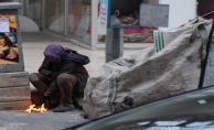 Kış ayında Suriyeli çocukların yaşam mücadelesi