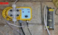 Su depolarına klor cihazı monte ediliyor