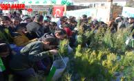 Urfa'da tanıtımda öğrenci izdihamı