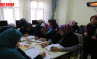 Kadınlar kurs ile iş hayatını atılıyor