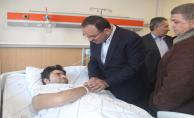 Bakanlar, Saldırıda Yaralananları Ziyaret Ettiler