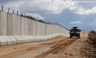 Güvenlik duvarın yarısı tamamlandı
