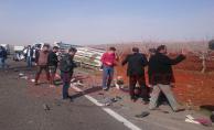 Şanlıurfa'da Trafik kazası, 1 ölü, 4 yaralı