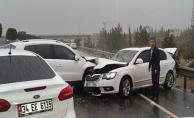 Urfa havaalanı yolunda zincirleme kaza