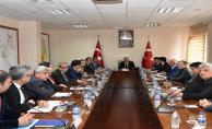 Vali Tuna Başkanlığında toplandılar
