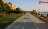 Birecik'te Bisiklet Yolu Yapımı