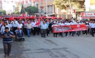 Suruç 'ta 15 Temmuz saygı ve birlik yürüyüşü düzenlendi.