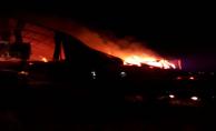 Urfa'da fabrika yangını