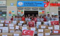 Öğrenciler topladıkları yardımları Afrin' gönderdi