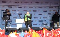 Cumhurbaşkanı Erdoğan Miting Alanında