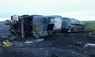 Urfa'da Yakıt Tankeri  Diğer Tankeri Arkadan Çarpı, 1 Ölü