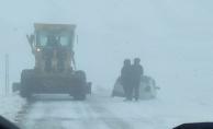 Karacadağ'da Yoğun Kar Yağışı