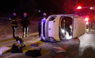 Şanlıurfa'da Polisten kaçan şüpheli otomobil takla attı