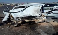 Suruç'ta trafik kazası, 1 ölü, 4 yaralı