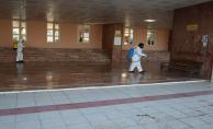 Haliliye Belediyesi, Hastaneleri Dezenfekte Ediyor