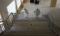 Haliliye belediyesi, kırsal mahallelerdeki okulları dezenfekte ediyor