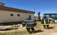 Şanlıurfa'da çukuruna düşen ineği itfaiye ekipleri kurtardı