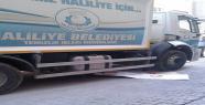Belediye aracın altına kalan Suriyeli...