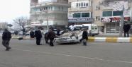 Kaygan Zeminde Araç Takla Attı; 1 yaralı