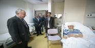 Mutlu'dan  hastane ziyareti