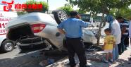 Otomobil takla attı, 6 yaralı