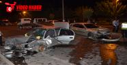 Otomobil ters yöne girdi, 5 yaralı