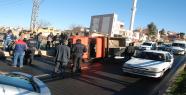 Şantiye Aracı Kaza Yaptı