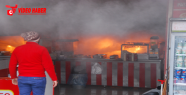 Suriyelilerin işlettiği dükkan yandı