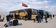 Türkmenler otobüslerle gelmeye başladı