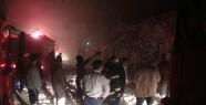 Urfa'da çırçır fabrikasında yangın