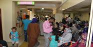 Urfa'da hastanelerde değişmeyen manzara