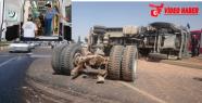 Urfa'da Kamyon otomobil ile çarpıştı, 1 ölü, 6 yaralı