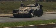Urfa'da otomobil takla attı,1 yaralı
