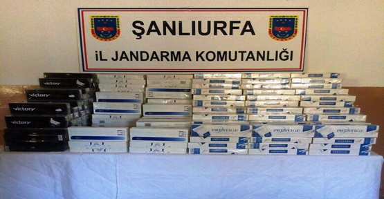 Urfa'da 3 Bin Paket Kaçak Sigara Ele Geçirildi