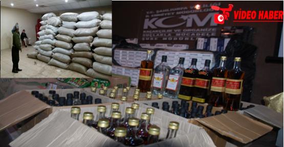 Urfa'da 23 ton kaçak çay ele geçirildi
