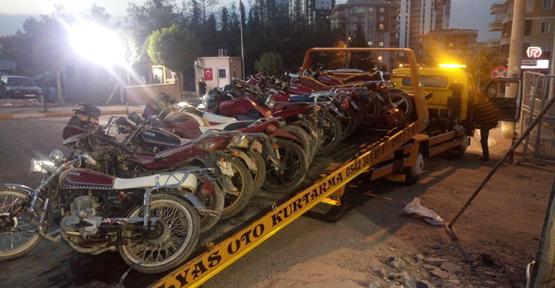 Urfa'da çalınan  motosikletler bulundu