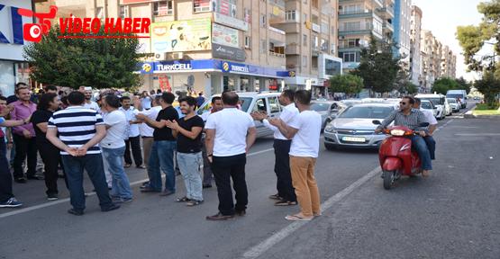 Urfa'da Elektrik Kesintisi Yol Kapattırdı