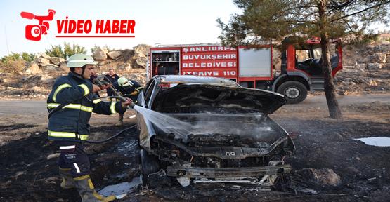 Urfa'da kiralık araç yandı